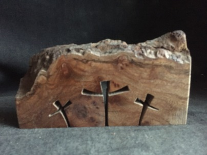 3 crosses in Elm burr